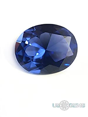 Tanzanite Blue #128 Oval 10x8 mm 3 ct. SIAMITE Nanocrystal Created Gemstone US@GEMS