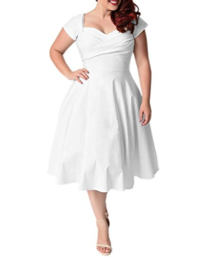 a30cb5efb2 BIUBIU Women's 50s Plus Size Vintage Swing Dress Bridesmaid Cocktail UK 16- 26 - Buy Online in Oman. | Clothing Products in Oman - See Prices, ...