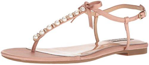 Badgley Mischka Womens Honey Flat Sandal Dark Pink