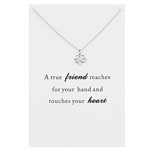 CYBERNY Pendant Necklace Endless of Love Reaches Your Heart with Inspirational Card