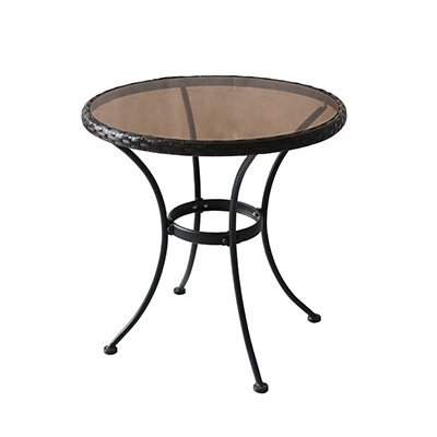 Woodard cm RXTV-1815-T Woodard Bistro Table - Four seasons courtyard, Sonoma, Steel & glass Bistro Table With woven rim. E-coated for rust protection For Use With Sonoma Bistro Chair #Rxtv-1815-C, Not Included - patio-tables, patio-furniture, patio - 31Mr9po8xmL. SS400  -