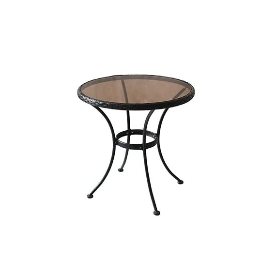 Woodard cm RXTV-1815-T Woodard Bistro Table - Four seasons courtyard, Sonoma, Steel & glass Bistro Table With woven rim. E-coated for rust protection For Use With Sonoma Bistro Chair #Rxtv-1815-C, Not Included - patio-tables, patio-furniture, patio - 31Mr9po8xmL. SS570  -
