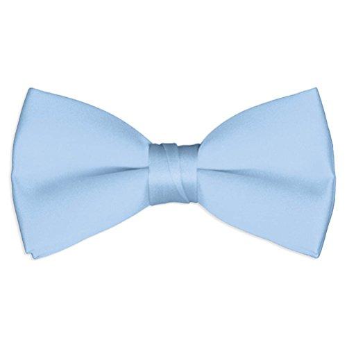 Satin Adjustable Bow Tie By Tuxgear (Boys, Light Blue) ()