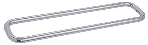 CRL 30'' Brushed Satin Chrome (BM Series) Back-to-Back Tubular Handle without Metal Washers by C.R. Laurence