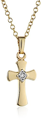 14k Gold & Diamond Cross - 3