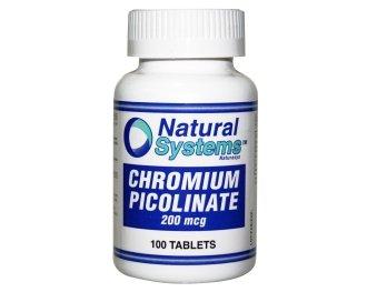 Systèmes naturels picolinate de chrome 200 mcg 100 comprimés Fat Burner