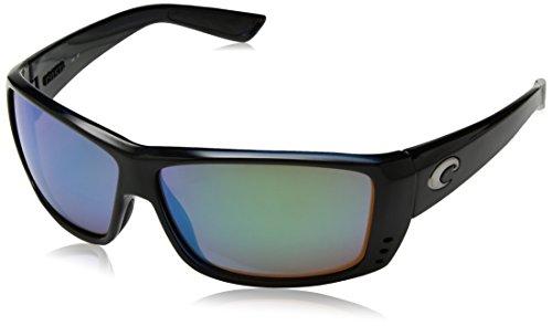 Costa Del Mar Cat Cay Sunglasses, Black, Green Mirror 580G Lens