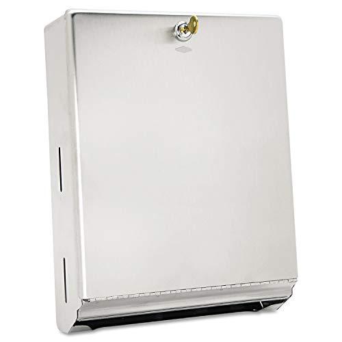 (Bobrick Washroom Equipment B-262 Bobrick 262 Surface-Mounted Paper Towel Dispenser, 10 3/4 x 4 x 14, Satin Stainless Steel (Renewed))