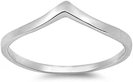 CHOOSE YOUR COLOR Sterling Silver Chevron Thumb Ring