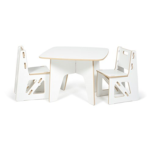 Sprout Modern Kids Table And Chair Set White Folding