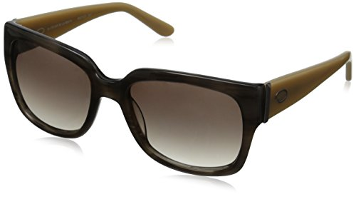Oscar by Oscar De La Renta Women's SSC5121-037 Square Sunglasses, Grey Striated, 56 - De Oscar Frames La Renta