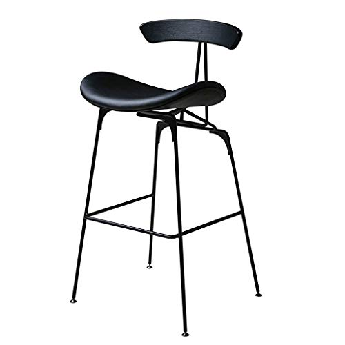 Amazon.com: Leather Bar Stool IKEA Simple Metal Bar Stools ...