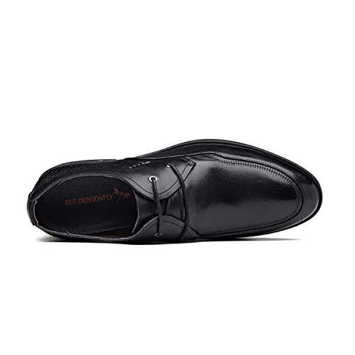 Printemps Chaussures Ronde Cuir Tête Affaires XLF Hommes Hommes Chaussures et 41 UE Modèles Chaussures Chaussures Automne en Adefg Dentelle Hnawx8vwqt