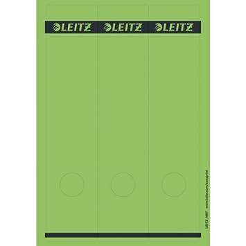 Leitz 16870025 R/ückenschild selbstklebend PC lang breit 75 St/ück Papier rot