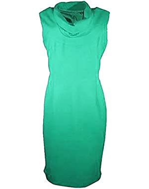Calvin Klein Sleeveless Cowl Neck Dress, Lagoon