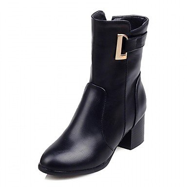 RTRY Women'S Boots Spring Fall Winter Platform Comfort Novelty Patent Leather Leatherette Wedding Office &Amp; Career Dress Casual Party &Amp; Evening US2.5 / EU34 / UK1.5 Little Kids QXKK8fyTS