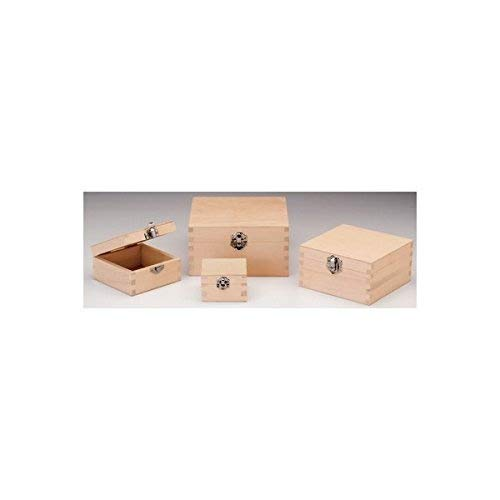 Glorex scatola di legno, Legno, Naturale, 10 x 10 x 5,5 cm 10x 10x 5 5cm GLOREX GmbH 6 1682 101
