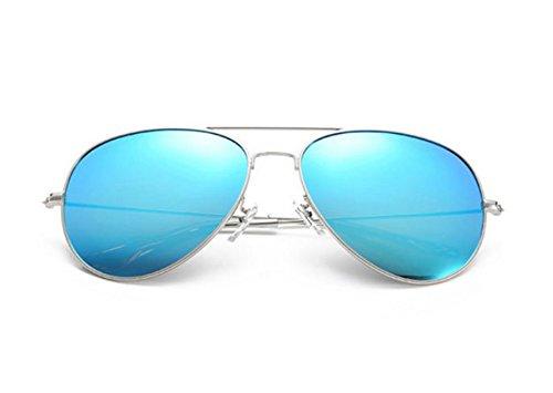 Lunettes Blue de HD Argent polarisées Neutre UV400 Trend soleil rétro Fashion Ice PrBqnwPRx