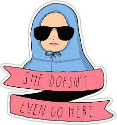 She Doesn/'t Even Go Here Mean Girls Inspired Key Chain