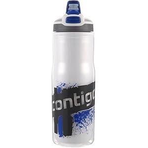 Contigo AUTOSPOUT Devon Double Wall Insulated Water Bottle, 22-Ounce, Blue by Contigo