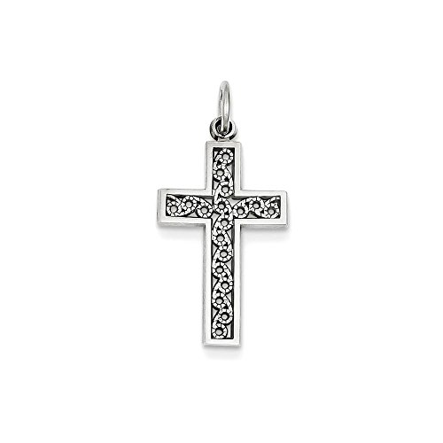 Jewels By Lux 14k White Gold Cross Charm by Jewels By Lux