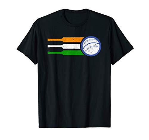 India Cricket Team Tshirt Indian Cricket Fan Flag T-Shirt ()