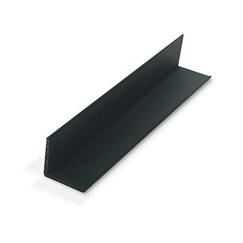Outwater Plastics 1937-Bk Black 1-1/4 Inch X 1-1/4 Inch X 7/64 (.109) Inch Thick Angle Plastic Even Leg Angle Moulding 36 Inch Lengths (Pack of 4)