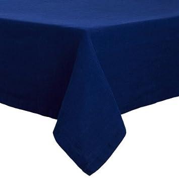 Sur La Table Navy Linen Tablecloth M 49643 NV , 70u0026quot; X 96u0026quot;