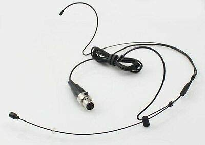 FidgetFidget Black Hook Headset Microphone For Shure Bodypack Transmitter TA4F 4pin Mini ()