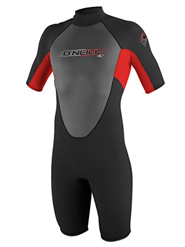 O'Neill Mens Reactor 2mm Spring Wetsuit, Black/Red/Black, X-Large
