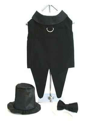 Dog Tuxedo w/ Formal Tails – Black, XXXL (Chest 31-36″), My Pet Supplies