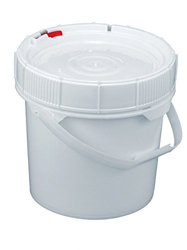 Dimensions 5 Gallon Bucket (Screw Top LifeLatch 90 mil Bucket - 3.5 Gallon, White Lid)