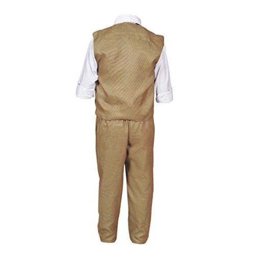 31MrTQKM2NL. SS500  - ahhaaaa Boy's Blended Waistcoat, Shirt and Trouser Set