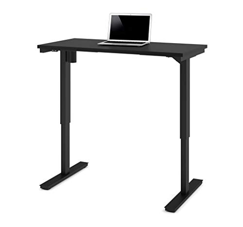 """Image of Bestar Bestar Bestar Bestar 24"""" x 48"""" Electric Height Adjustable Table - White, Table's height adjust from 28"""" to 45"""", Voltage : 110V"""