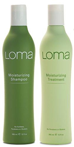 Moisturizing Conditioner Shampoo (Loma Hair Care Moisturizing Shampoo Moisturizing Treatment Duo, 12 oz.)