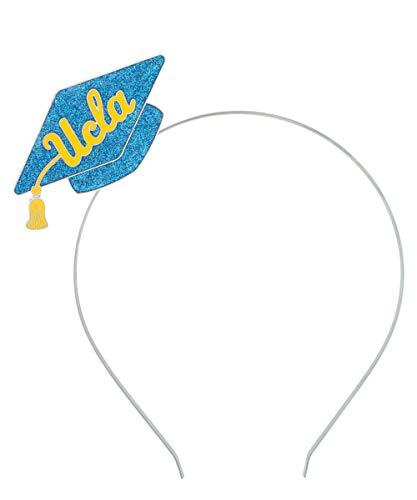 RhinestoneU NCAA UCLA Bruins Womens UCLA Glittery Grad Cap Party Headband with Blue Glitter Enamel, Blue, One Size