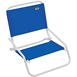 RIO Beach Wave 1-Position Beach Folding Sand Chair - Pacific Blue
