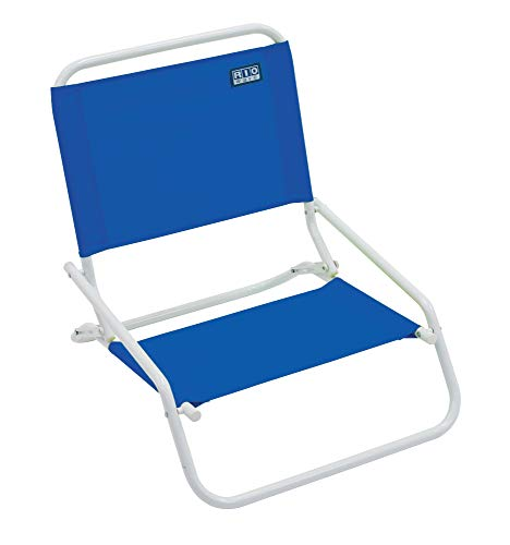RIO Beach Wave 1-Position Beach Folding Sand Chair - Pacific Blue (Ground Chairs)