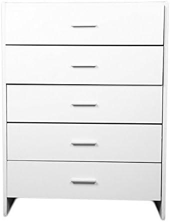 Homgrace - Cómoda mesilla cajonera archivo de oficina, salón, estudio, dormitorio, armario, mueble versátil con 5 cajones, espacio con amplia capacidad, 68 x 35 x 90 cm: Amazon.es: Hogar