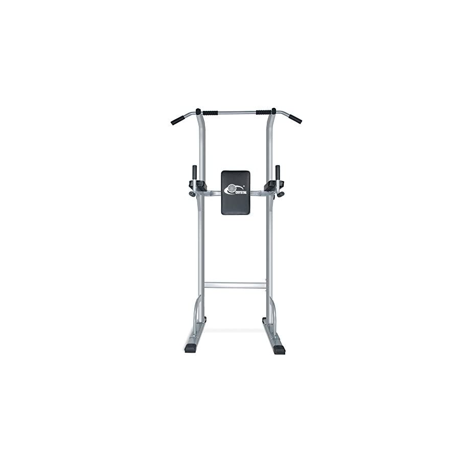 Crystal Fit Adjustable Height Power Tower Pull Up Bar Standing Tower  Strength Training Home Office Fitness