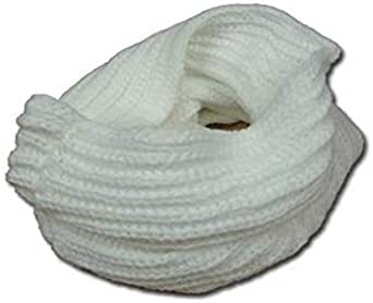 White Wool Infinity Scarf For Women