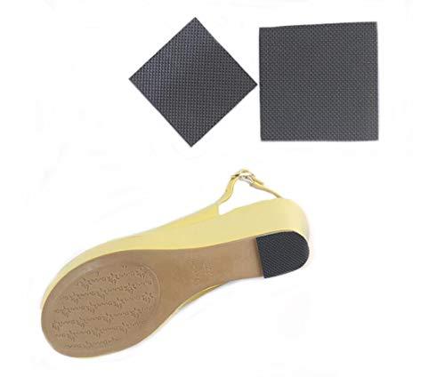 Sole Square Heel (Ewanda store 5 Pairs Square Shape Anti Slip High Heel Shoes Sole Protector Pads Sticker Non Slip Grip Cushion Female Sole Anti-Slip Stickers,Size L)