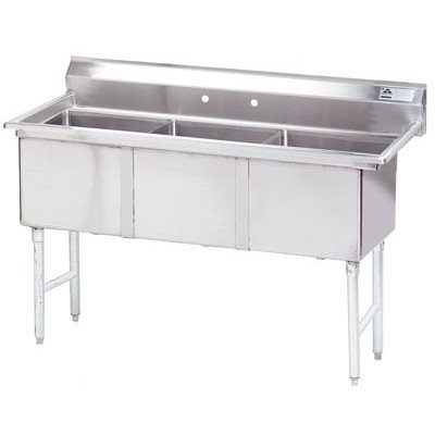 108'' x 30'' Triple Fabricated Bowl Scullery Sink by Advance Tabco