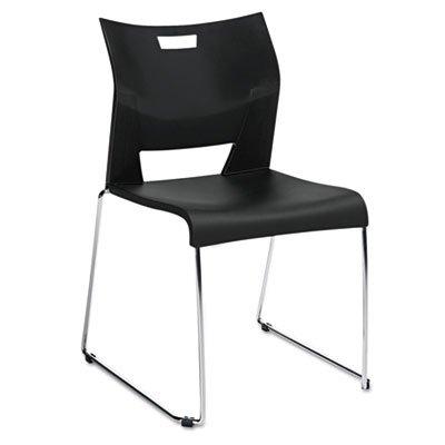 Duet Stacking (Global Duet Series Stacking Chair, Polypropylend, Black, 4 Chairs/Carton)