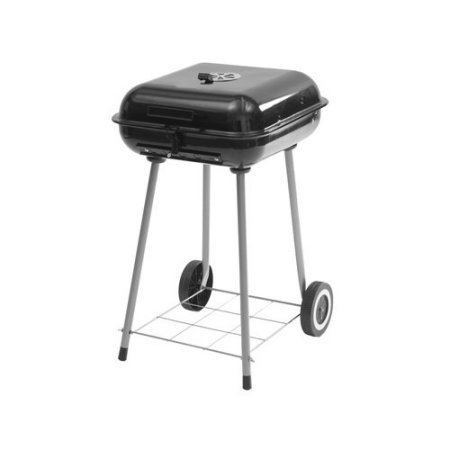 Backyard Grill 17.5-Inch Steel Black Square Charcoal Grill (Holland Companion Electric Grill)