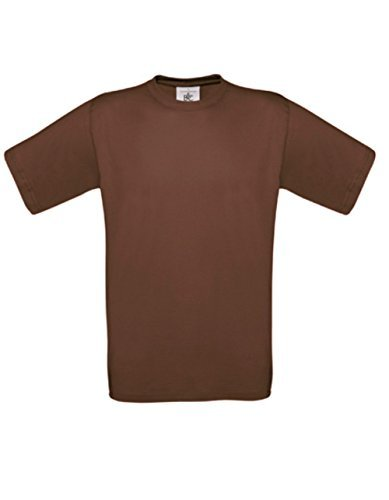T-Shirt Exact 190 Basics Rundhals Shirt viele Farben B&C S-XXL XL,chocolate