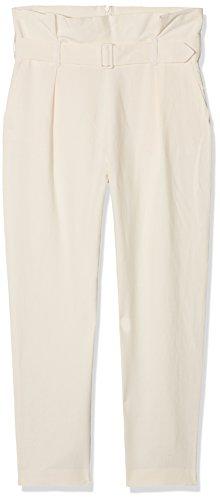 Sisley pastel Parchment Donna Pantaloni 1j6 Trousers Avorio aq6Oa1w