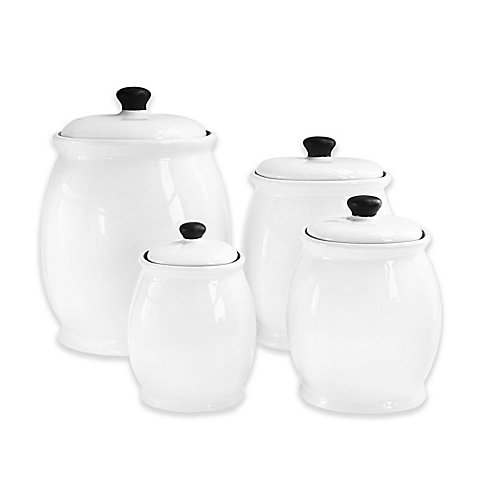 American Atelier 4-Piece Canister Set in White