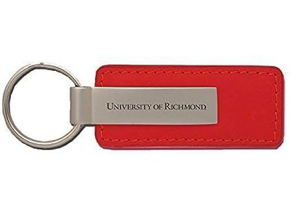 Amazon.com: Universidad de Richmond – Cuero y metal Llavero ...