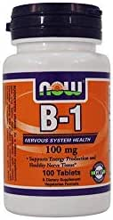 Now Foods: B-1 Nervous System Health 100 mg, 100 tabs (6 pack)